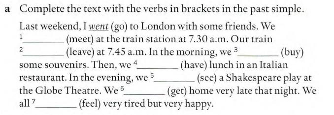 неправильные глаголы упражнение